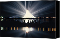 Eerie Canvas Prints - Illuminated By Spotlights, Apollo Ii Canvas Print by Otis Imboden