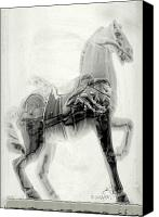 Prancing Canvas Prints - Illusion Of A Horse Canvas Print by Arline Wagner