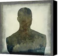 Human Being Canvas Prints - Illustration of a human bust. Silhouette Canvas Print by Bernard Jaubert