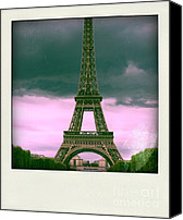 Landmarks Canvas Prints - Illustration of Eiffel Tower Canvas Print by Bernard Jaubert