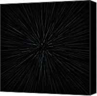 Astronomy Canvas Prints - Illustration Of Warp Speed Movement Through Stars Canvas Print by Stockbyte