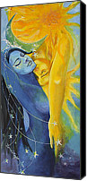 Celestial Canvas Prints - Ilusion from Impossible Love series Canvas Print by Dorina  Costras