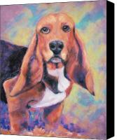 Hound Canvas Prints - Im All Ears Ears Canvas Print by Billie Colson