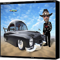 Hot Rod Car Canvas Prints - Im Back . . . Canvas Print by Mike McGlothlen