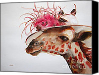 Animal Painting Special Promotions - Im So Pretty Canvas Print by Diane Kraudelt