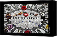 Yoko Canvas Prints - Imagine Canvas Print by Gwyn Newcombe