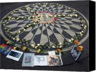 Yoko Canvas Prints - Imagine in Strawberry Fields Canvas Print by Chris Ann Wiggins