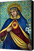 Queen Of Heaven Canvas Prints - Immaculate Heart Canvas Print by Valerie Vescovi