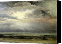 Storm Painting Canvas Prints - Immensity Canvas Print by Gustave Courbet