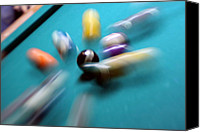 Pool Break Canvas Prints - Impact Canvas Print by Mike Cavanaugh