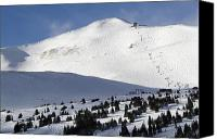 Snowboard Canvas Prints - Imperial Bowl on Peak 8 at Breckenridge Colorado Canvas Print by Brendan Reals
