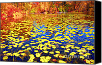 Impression Canvas Prints - Impression of Waterlily Pond Canvas Print by Charline Xia