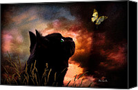 Fall Canvas Prints - In a cats eye all things belong to cats.  Canvas Print by Bob Orsillo