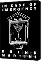 Olive Canvas Prints - In Case Of Emergency - Drink Martini - Black Canvas Print by Wingsdomain Art and Photography