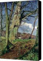 Hillside Canvas Prints - In Early Spring Canvas Print by John William Inchbold