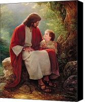 Looking Canvas Prints - In His Light Canvas Print by Greg Olsen