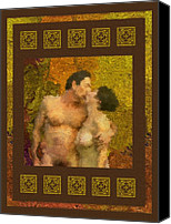 Lovers Canvas Prints - In Love Canvas Print by Kurt Van Wagner
