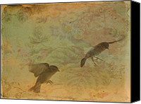 Bird Art Canvas Prints - In Motion Canvas Print by Gothicolors With Crows