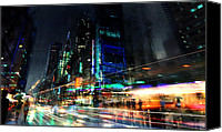 Science Fiction Mixed Media Canvas Prints - In Motion Canvas Print by Philip Straub