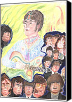 Beatles Pastels Canvas Prints - In my life Canvas Print by Moshe Liron