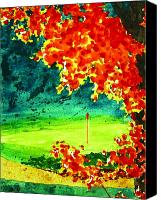 Golfing Canvas Prints - In Search of Par Canvas Print by Patrick Parker