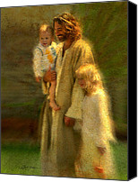 Children Canvas Prints - In the Arms of His Love Canvas Print by Greg Olsen