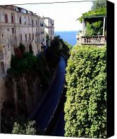 Drive Canvas Prints - In the center of Sorrento Italy Canvas Print by Mindy Newman