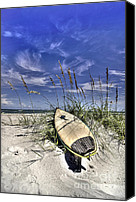 Tide Canvas Prints - In the Dunes Canvas Print by Benanne Stiens