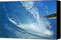 Surfers Canvas Prints - In the Eye Canvas Print by Paul Topp