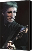 Roger Waters Canvas Prints - In The Flesh-Roger Waters Canvas Print by Peter Chilelli