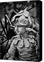 Potography Canvas Prints - In The Garden - BW Canvas Print by Christopher Holmes