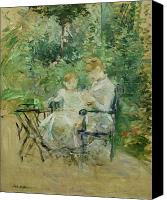Le Jardin Canvas Prints - In the Garden Canvas Print by Berthe Morisot