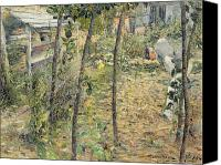Le Jardin Canvas Prints - In the Garden Canvas Print by Charles Angrand
