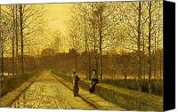 Atkinson Canvas Prints - In the Golden Gloaming Canvas Print by John Atkinson Grimshaw
