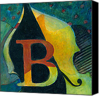 Classical Musical Art Canvas Prints - In The Key of B Canvas Print by Susanne Clark