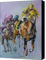 Horses Framed Prints Canvas Prints - In The Lead Canvas Print by John Henne