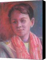 Young Pastels Canvas Prints - In The Light Canvas Print by Pamela Preciado