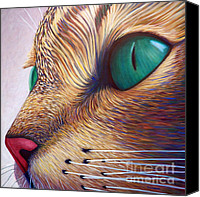 Animals Painting Canvas Prints - In The Moment Canvas Print by Brian  Commerford