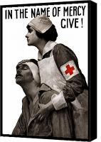 War Effort Canvas Prints - In The Name Of Mercy Give Canvas Print by War Is Hell Store