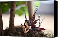 Fantasy Canvas Prints - In the shade 2 Canvas Print by Angelina Cornidez