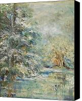 Mary Wolf Canvas Prints - In the Snowy Silence Canvas Print by Mary Wolf