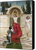 Mosaic Canvas Prints - In the Venusburg Canvas Print by John Collier