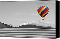 Selective Color Canvas Prints - In Their Own World Colorado Ballooning Canvas Print by James Bo Insogna