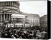 Usa President Canvas Prints - Inauguration Of President Franklin Canvas Print by Everett