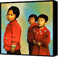 Corel Painter Canvas Prints - Inchon Kids of 54 Canvas Print by Dale Stillman
