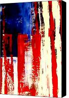 July Mixed Media Canvas Prints - Independence Day Canvas Print by Charles Jos Biviano
