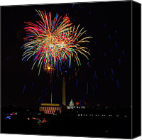 Independence Day Canvas Prints - Independence Day in DC 2 Canvas Print by David Hahn