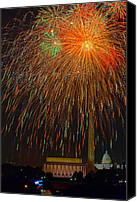 Independence Day Canvas Prints - Independence Day in DC 3 Canvas Print by David Hahn