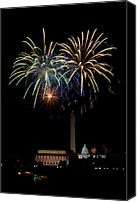 Independence Day Canvas Prints - Independence Day in DC Canvas Print by David Hahn