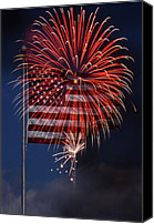 July Fourth Canvas Prints - Independence Day Canvas Print by Skip Willits